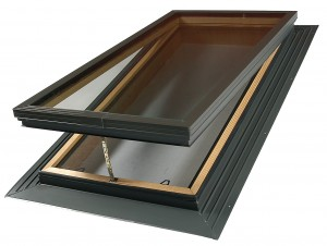 vented glass skylight